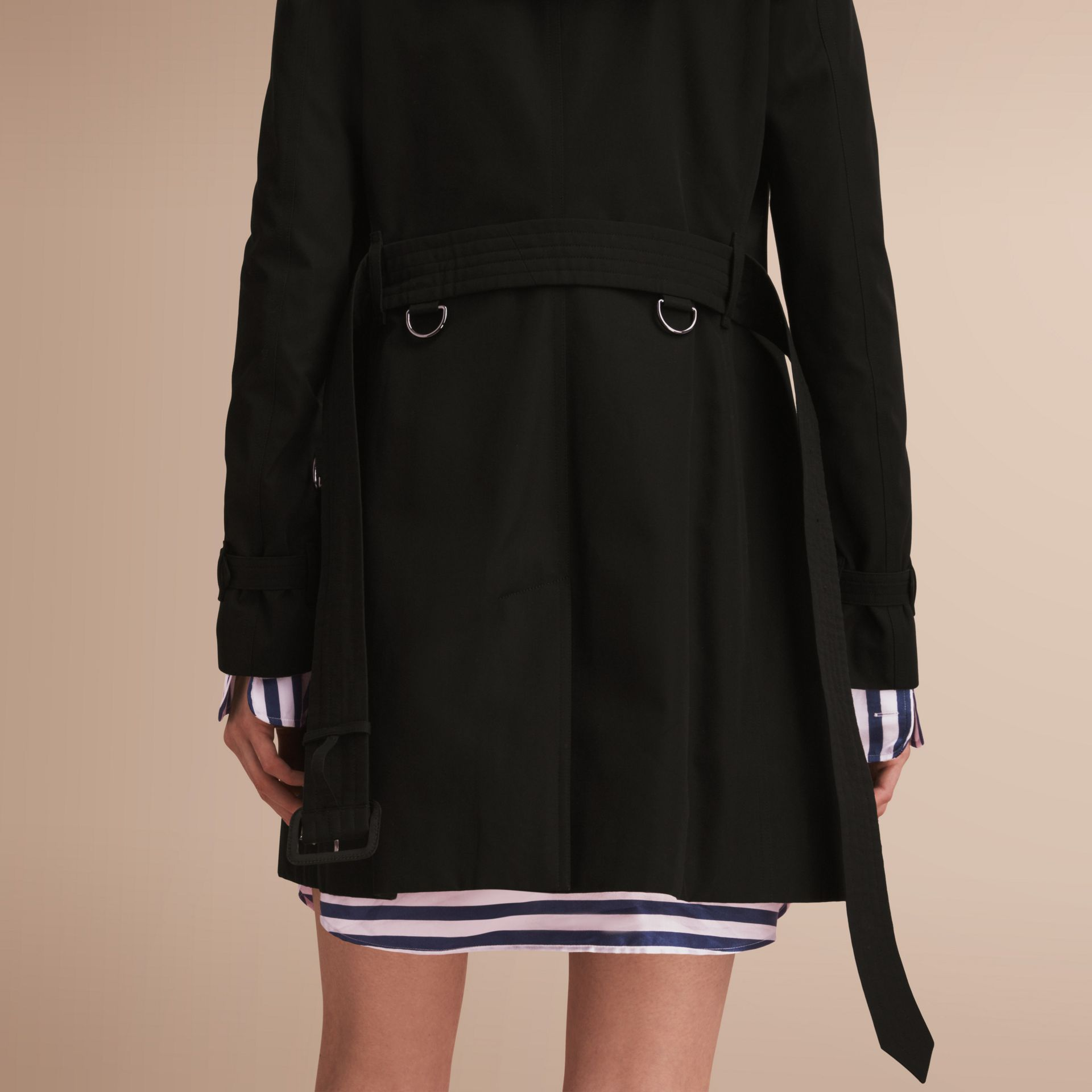 The Kensington – Mid-Length Heritage Trench Coat Black - gallery image 6