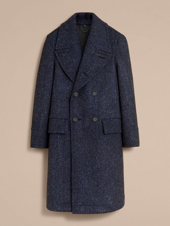 Donegal Herringbone Wool Tweed Topcoat - cell image 3