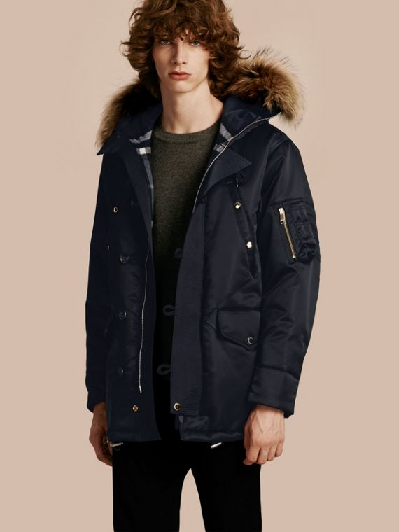 Hooded Parka with Detachable Raccoon Trim