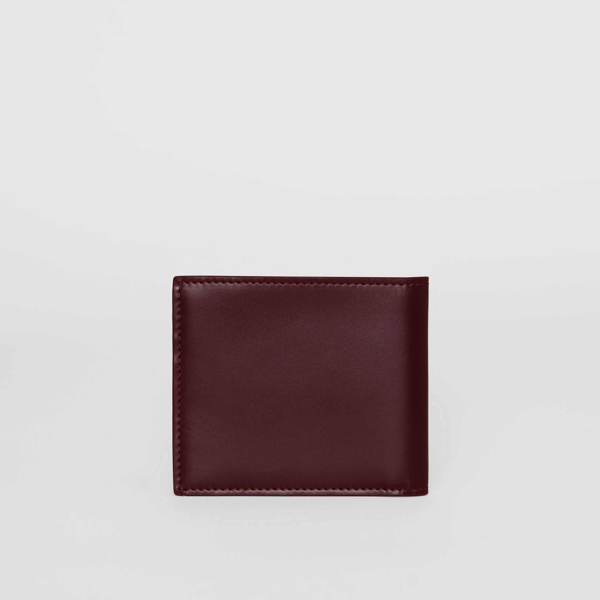 Monogram Motif Leather International Bifold Wallet in Oxblood - Men | Burberry Australia - gallery image 4