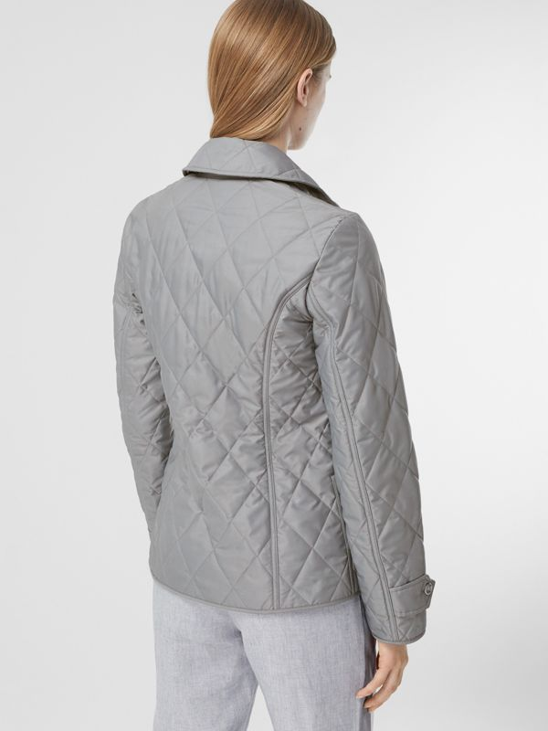 Diamond Quilted Thermoregulated Jacket in Mid Grey - Women | Burberry - cell image 2