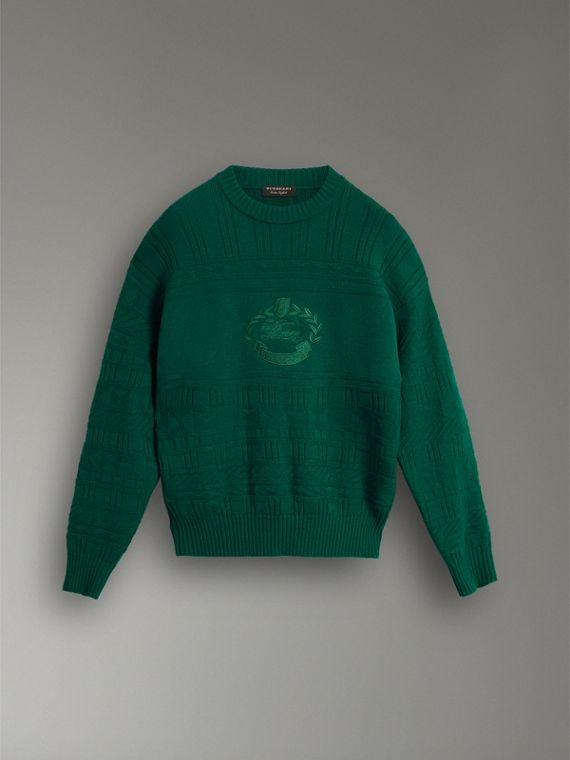 Reissued Wool Sweater in Dark Green - Men | Burberry - cell image 3