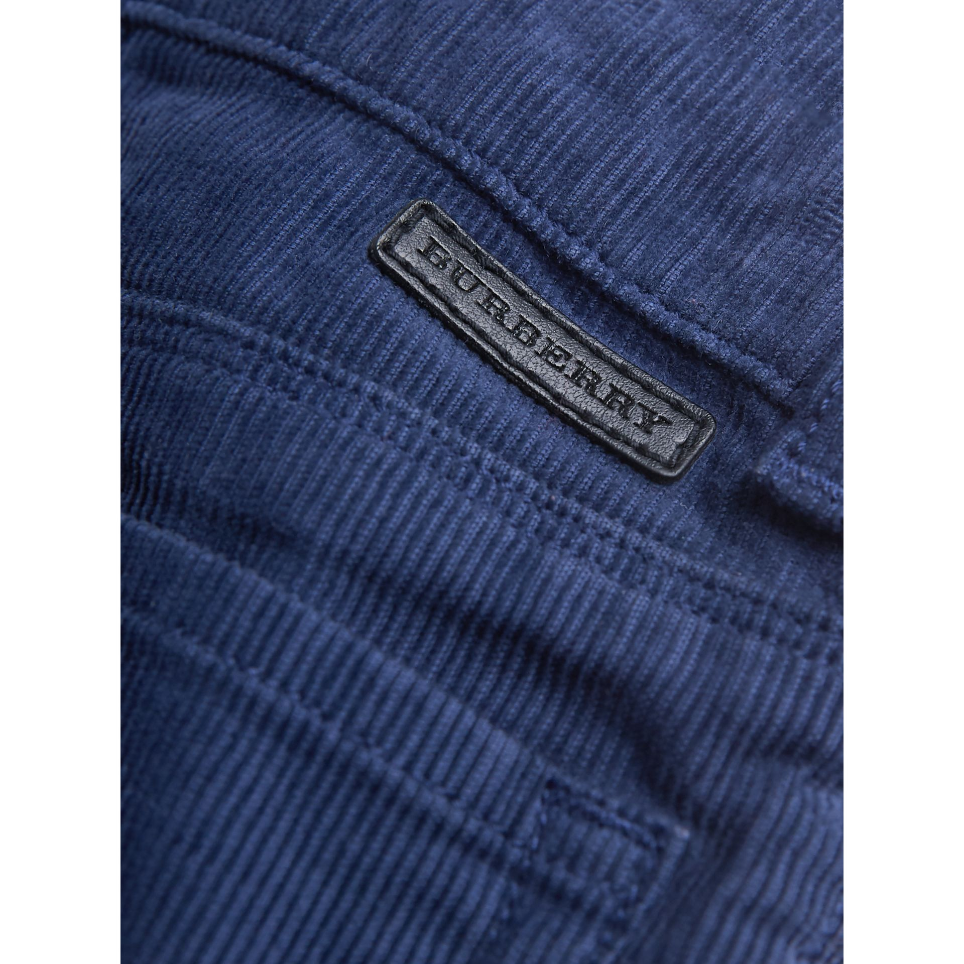 Stretch Corduroy Trousers in Cobalt Blue | Burberry - gallery image 1