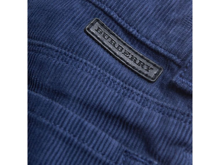 Stretch Corduroy Trousers in Cobalt Blue | Burberry - cell image 1