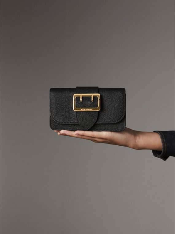 The Mini Buckle Bag in Grainy Leather in Black - Women | Burberry Singapore - cell image 3