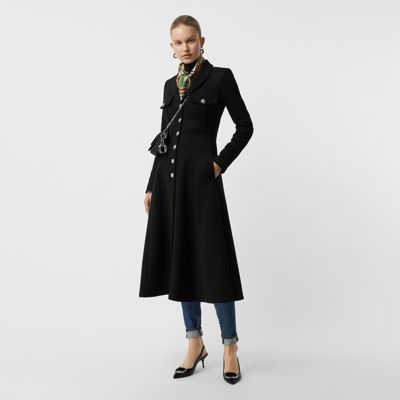 Bonded Cotton Blend Jersey Tailored Coat by Burberry