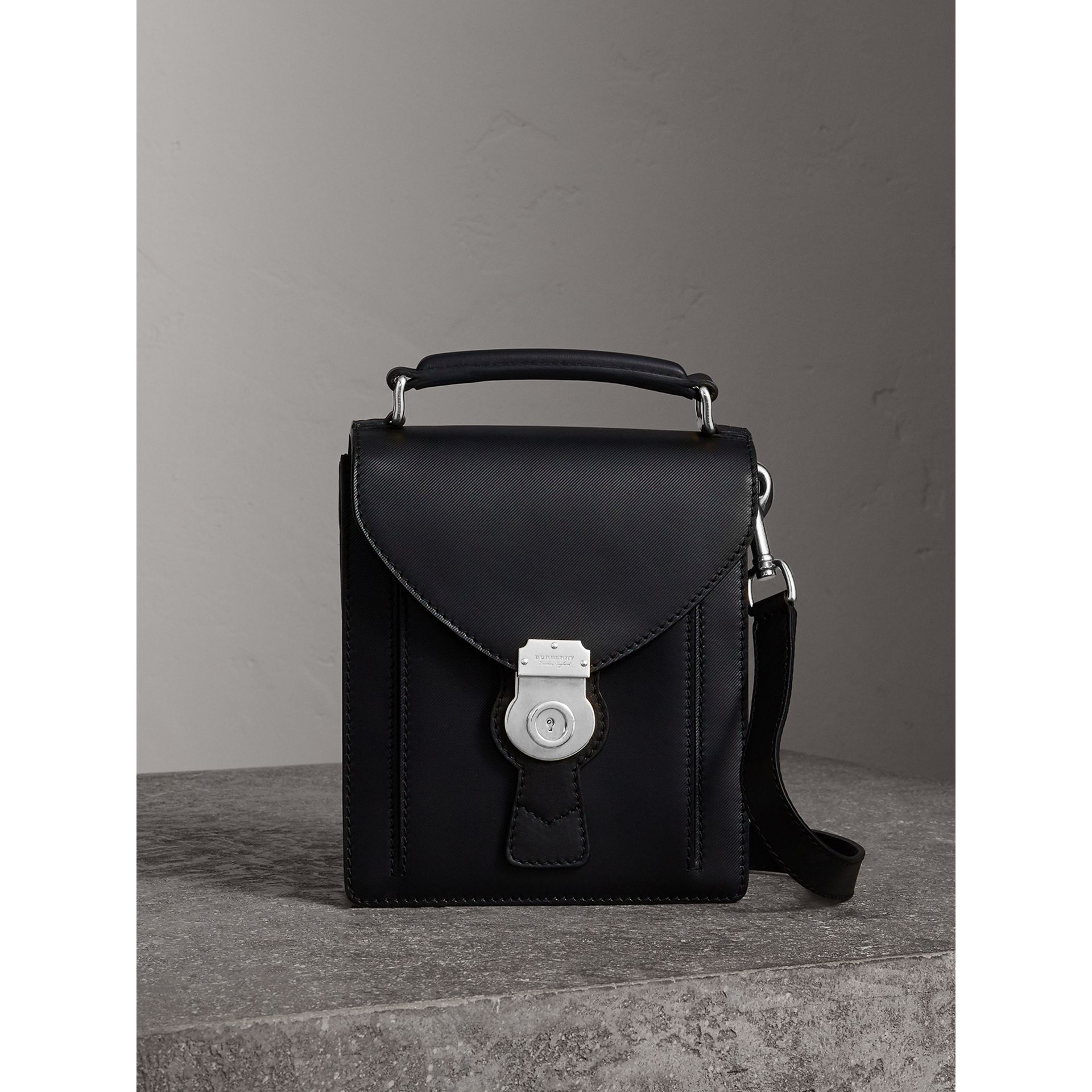 The Small DK88 Satchel in Black - Men | Burberry Australia - gallery image 0