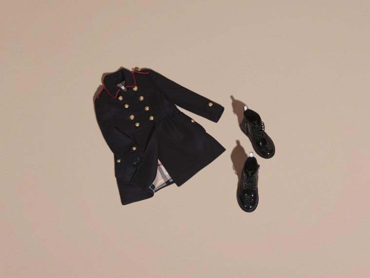 Marine Manteau en laine et cachemire mélangés avec détails militaires - cell image 4