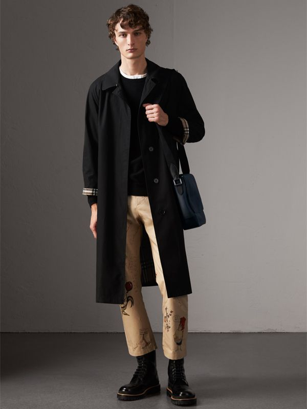 London Check Crossbody Bag in Navy/black - Men | Burberry United States - cell image 2