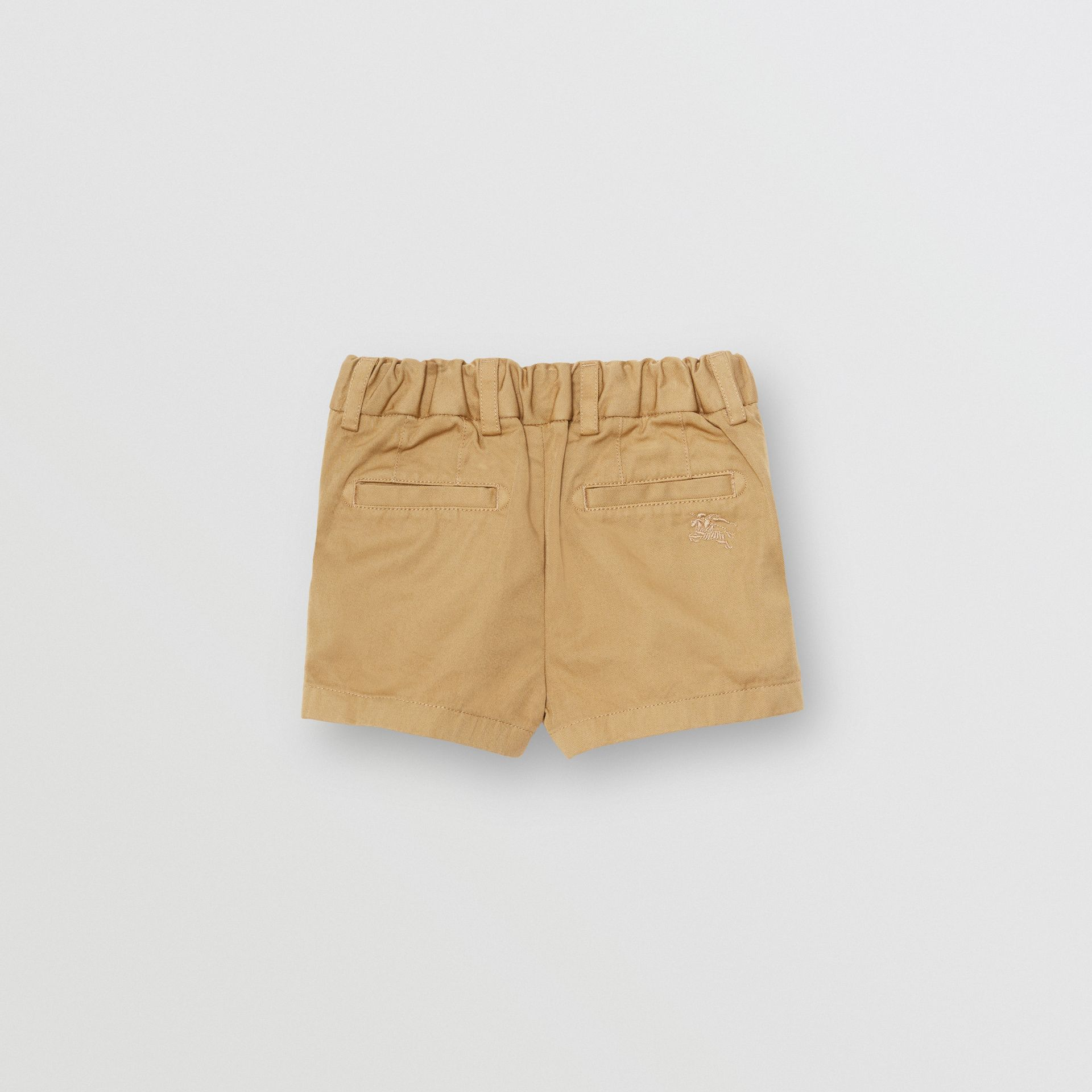 Cotton Chino Shorts in Taupe - Children | Burberry Canada - gallery image 3