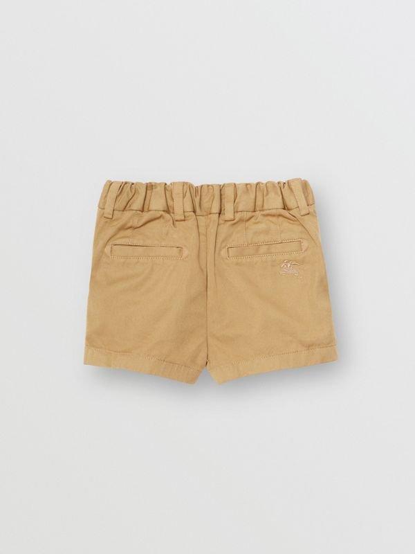 Cotton Chino Shorts in Taupe - Children | Burberry Canada - cell image 3