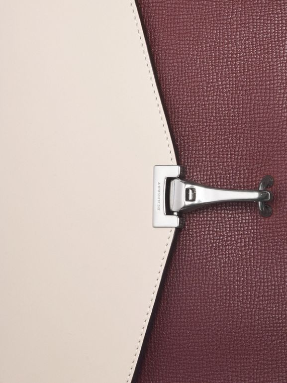 Two-tone Leather Crossbody Bag in Mahogany Red/limestone - Women | Burberry Hong Kong - cell image 1