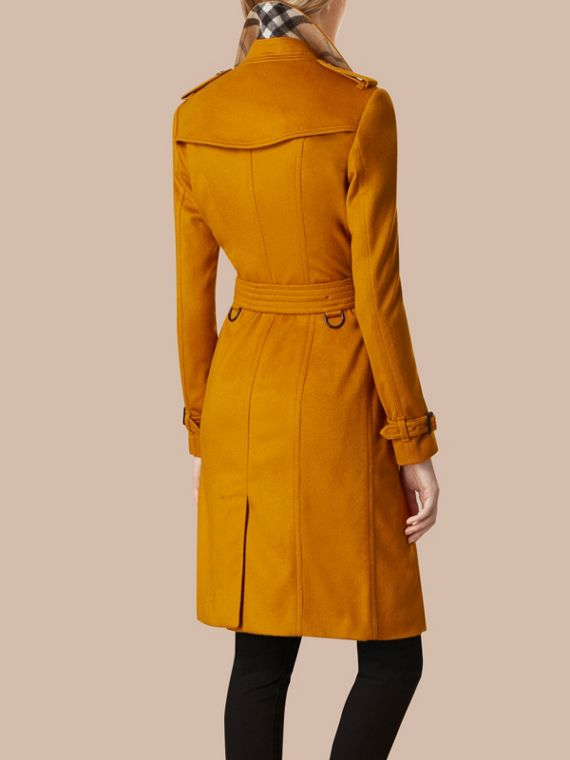 Umber yellow Sandringham Fit Cashmere Trench Coat Umber Yellow - cell image 2