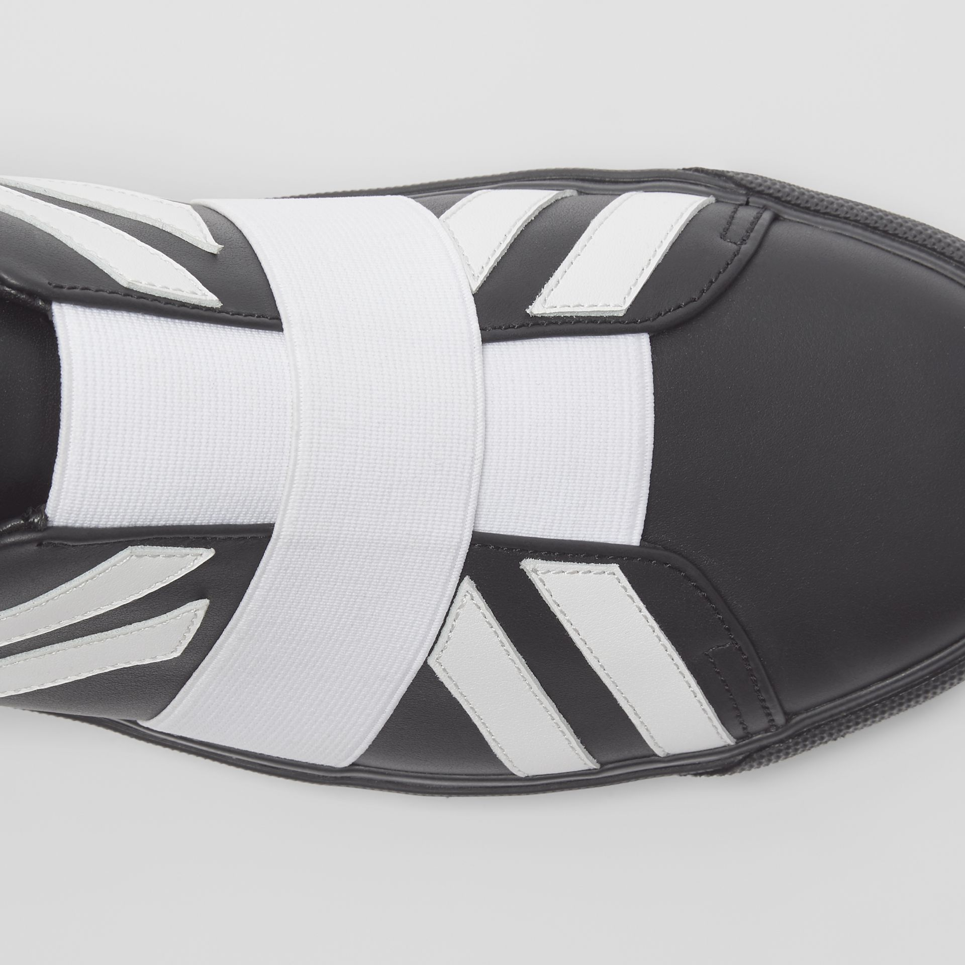 Union Jack Motif Slip-on Sneakers in Black - Men | Burberry - gallery image 1