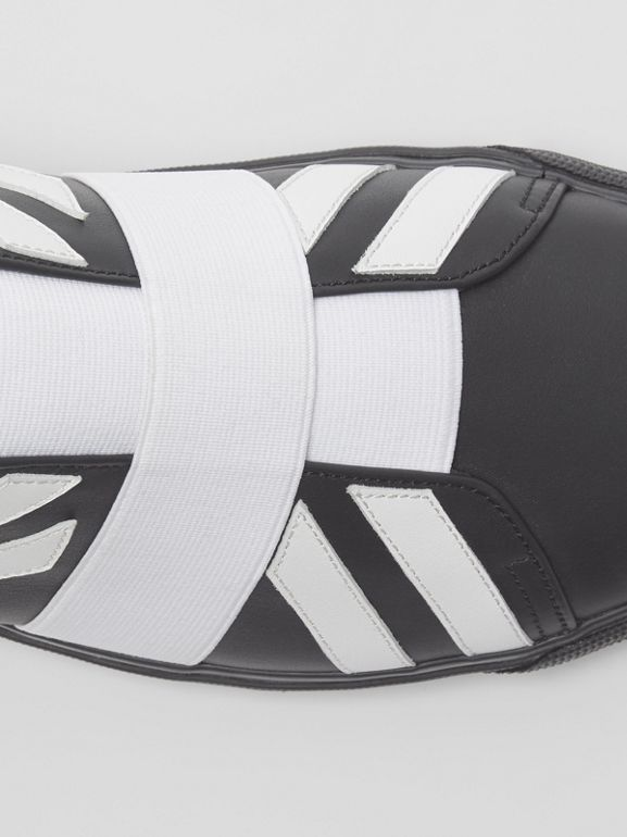 Union Jack Motif Slip-on Sneakers in Black - Men | Burberry United Kingdom - cell image 1