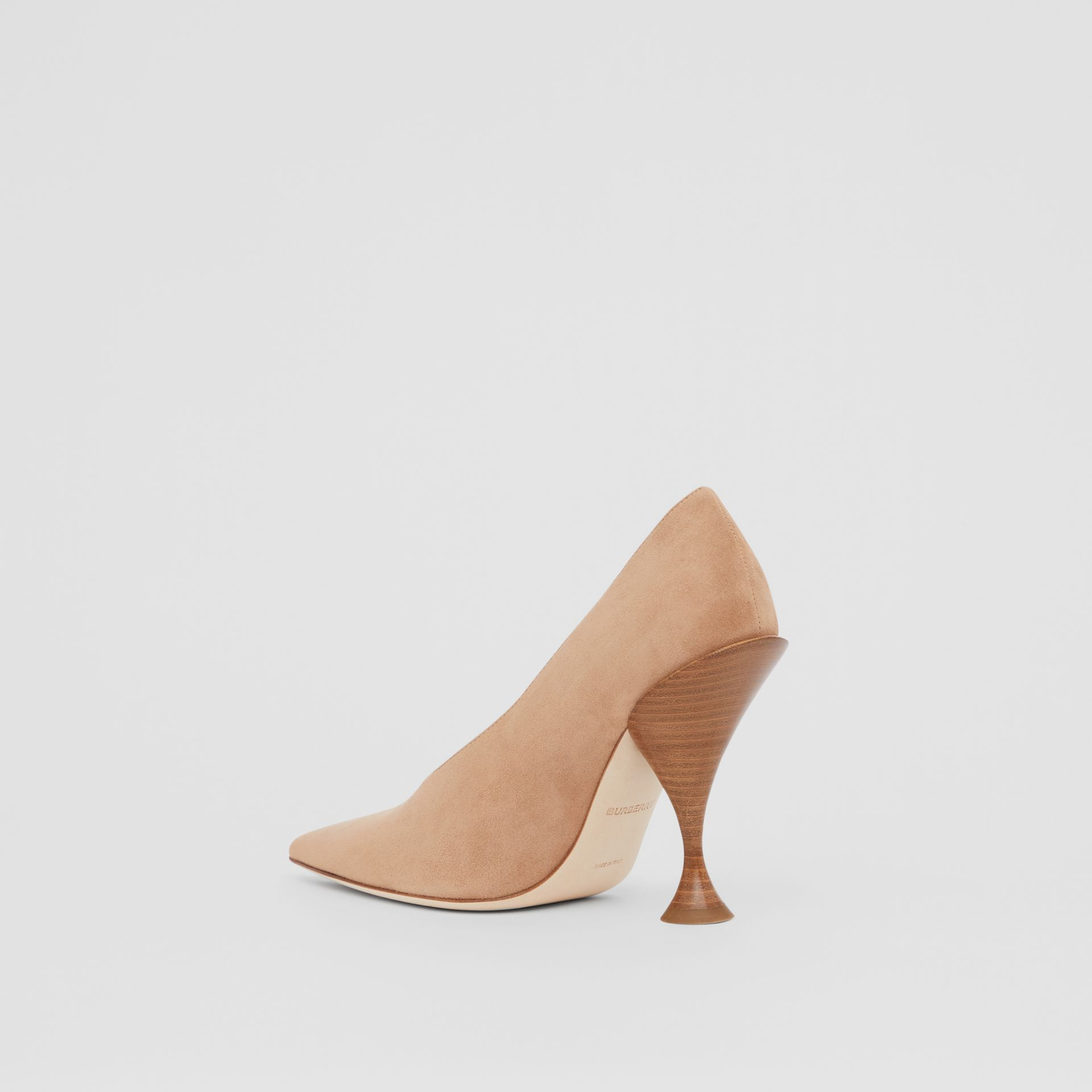 Suede Point-toe Pumps in Warm Camel - Women | Burberry - gallery image 5