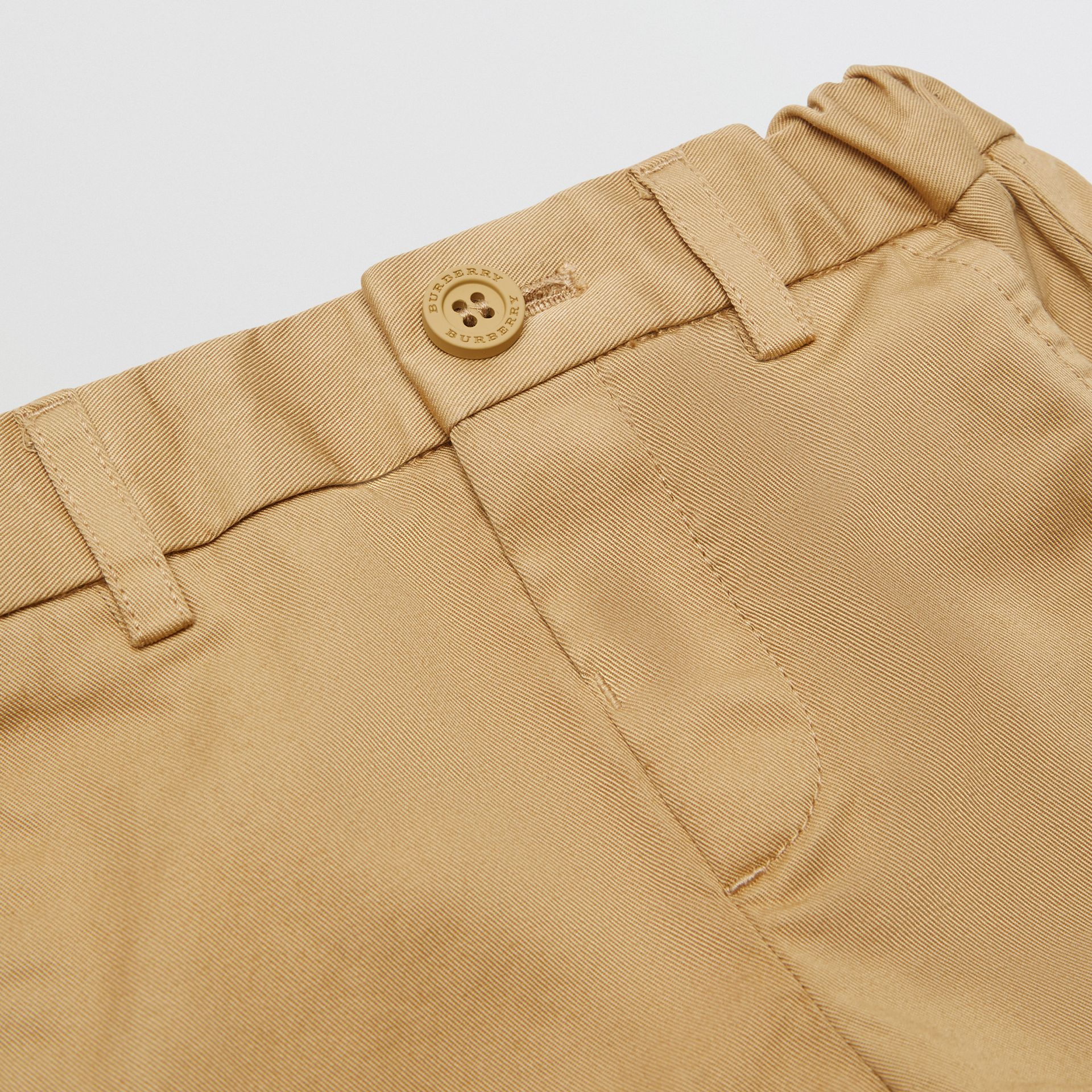 Cotton Chinos in Taupe - Children | Burberry - gallery image 1