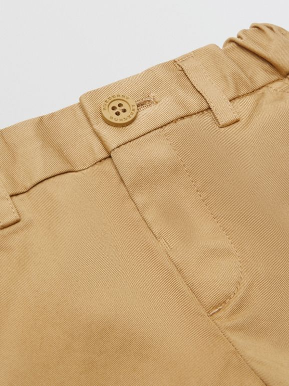 Cotton Chinos in Taupe - Children | Burberry - cell image 1