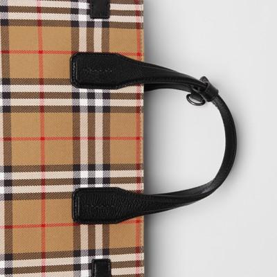 The Medium Banner aus Vintage Check Gewebe und Leder (Schwarz) Damen | Burberry