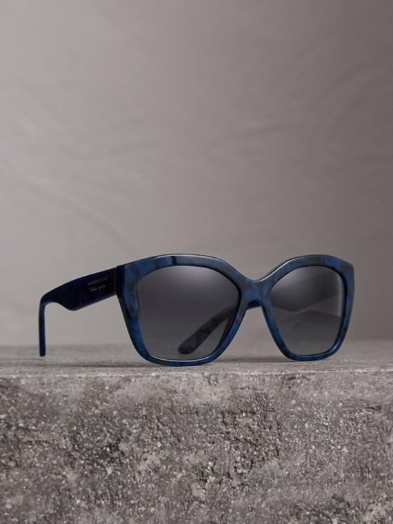 Gafas de sol con montura cuadrada (Azul)