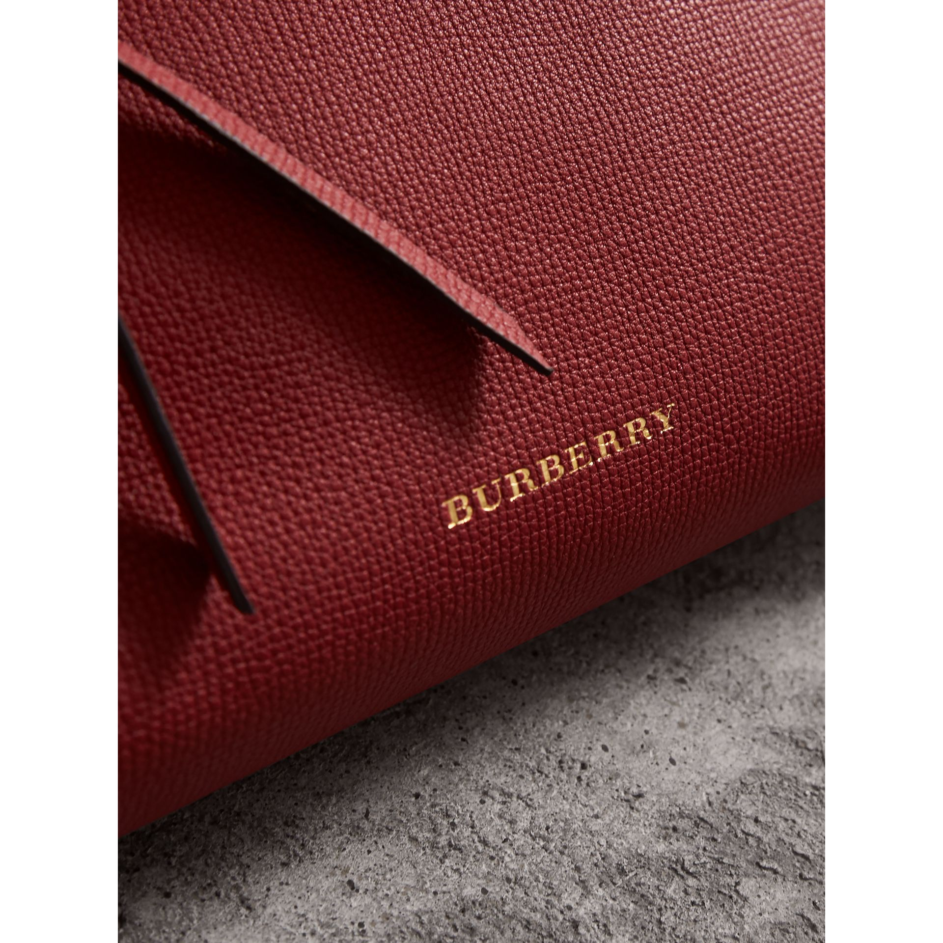 Grainy Leather Clutch Bag in Russet Red - Women | Burberry - gallery image 2