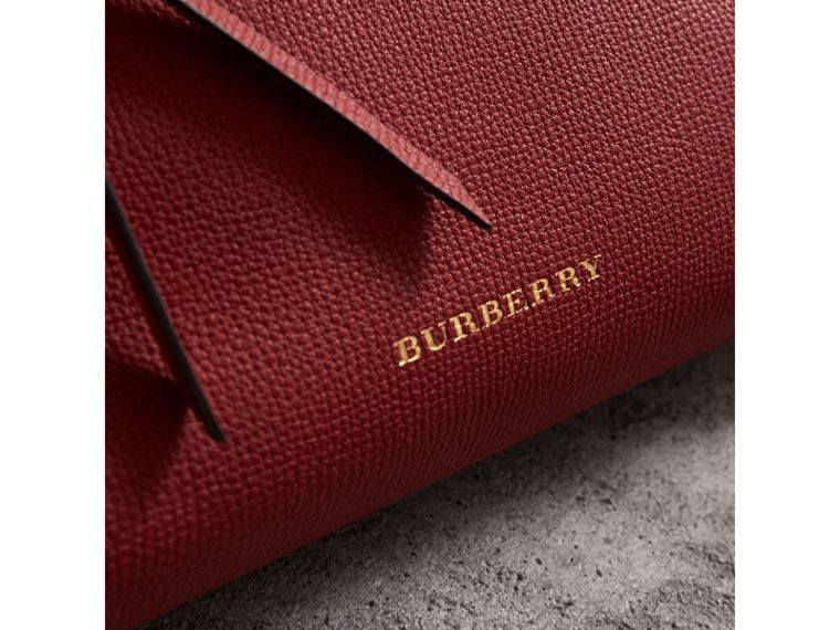Grainy Leather Clutch Bag in Russet Red - Women | Burberry - cell image 1