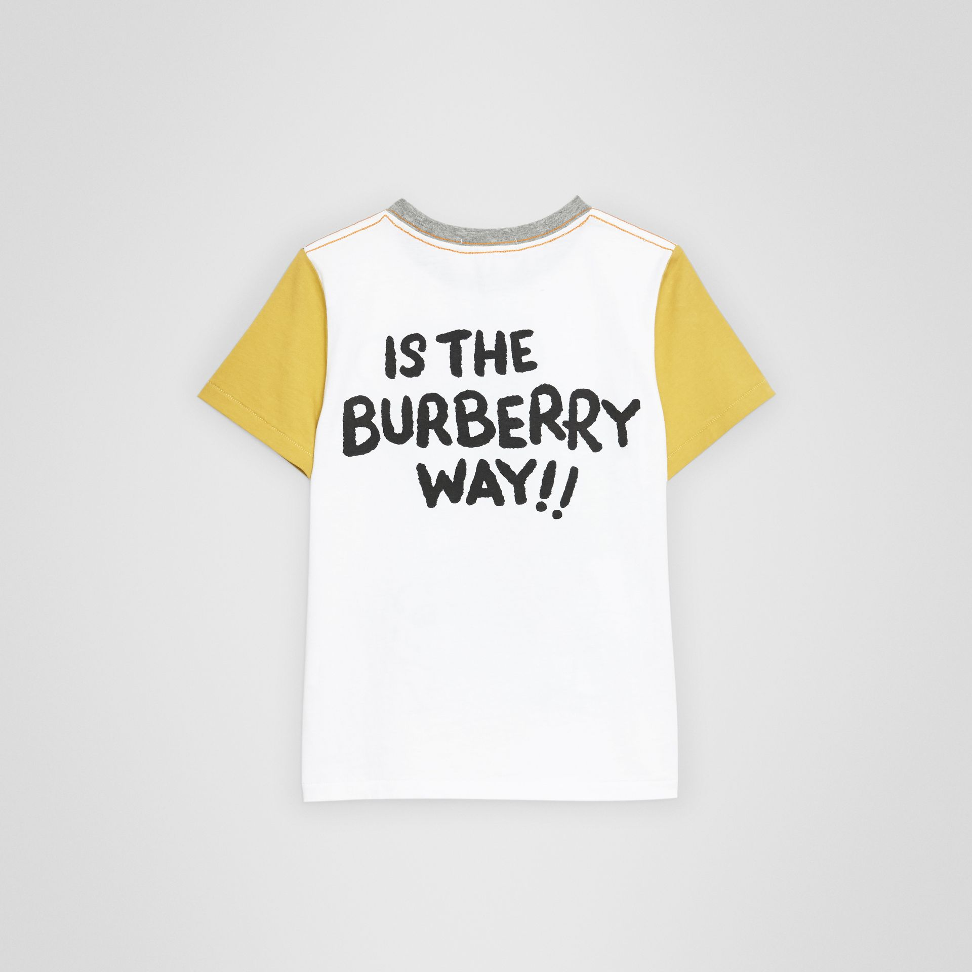 Cartoon Print Cotton T-shirt in White | Burberry - gallery image 3