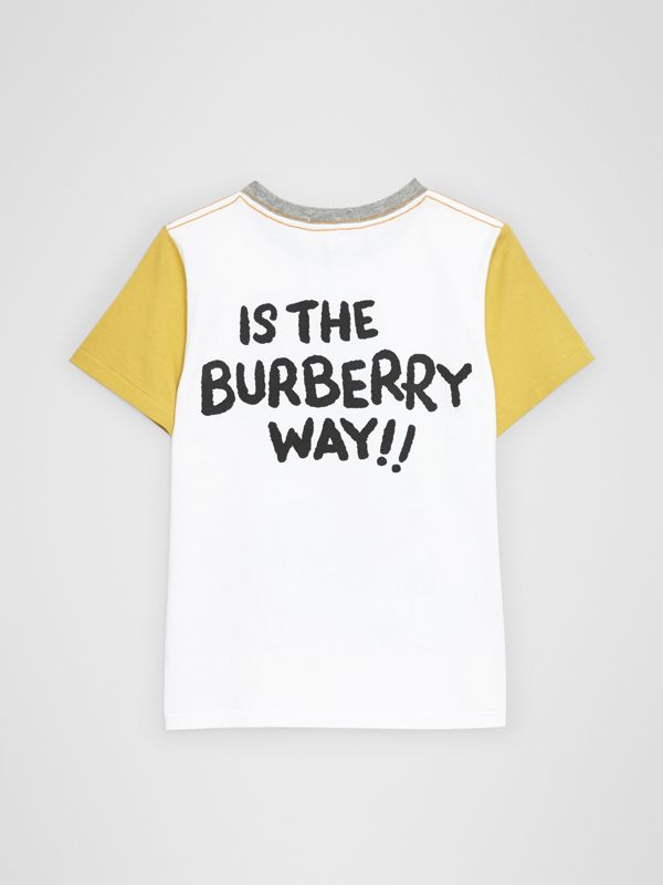 Cartoon Print Cotton T-shirt in White | Burberry Canada - cell image 3