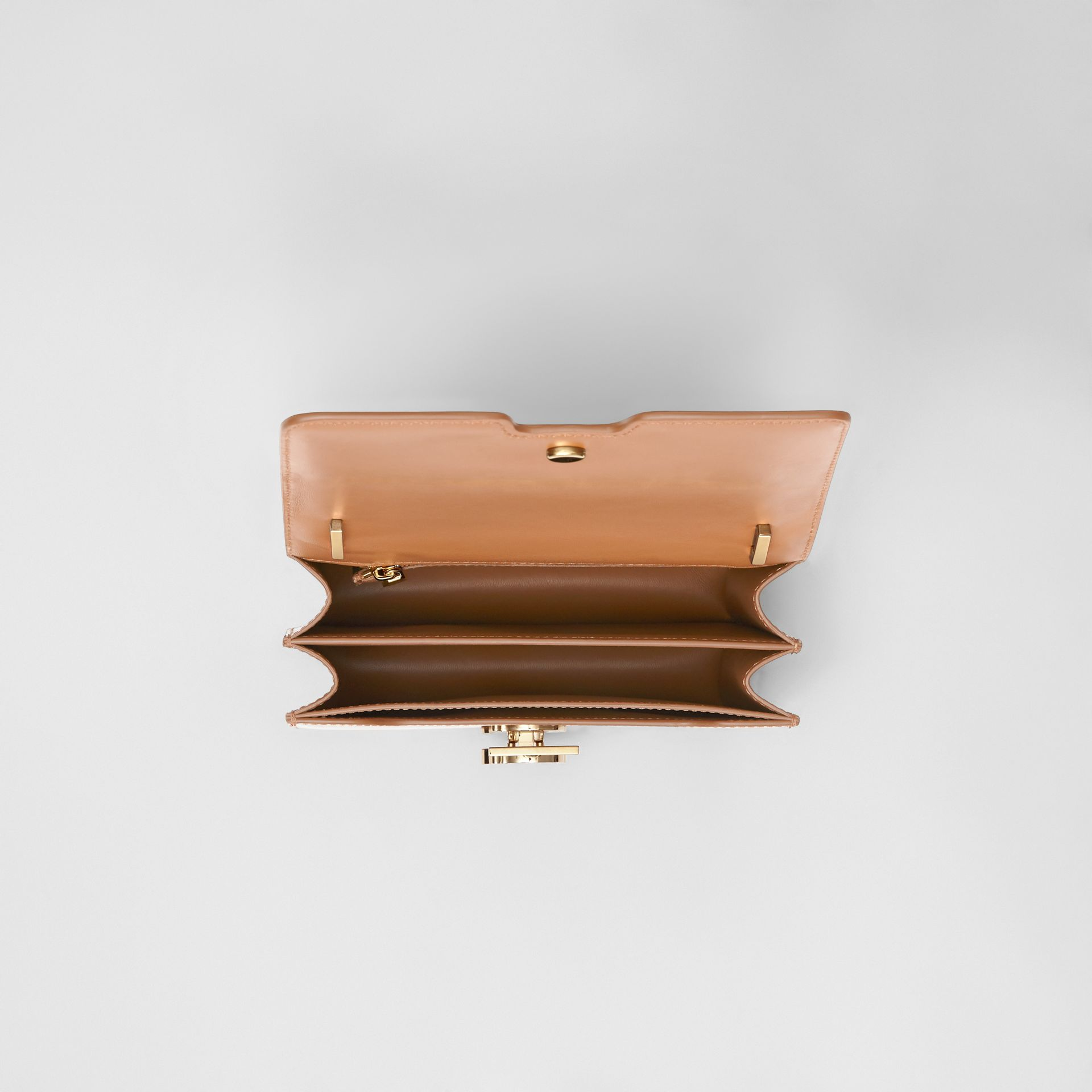 Small Leather TB Bag in Flaxseed - Women | Burberry - gallery image 4
