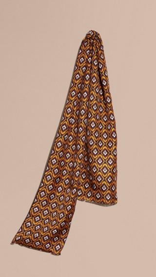 Foulard en soie à imprimé de type cravate