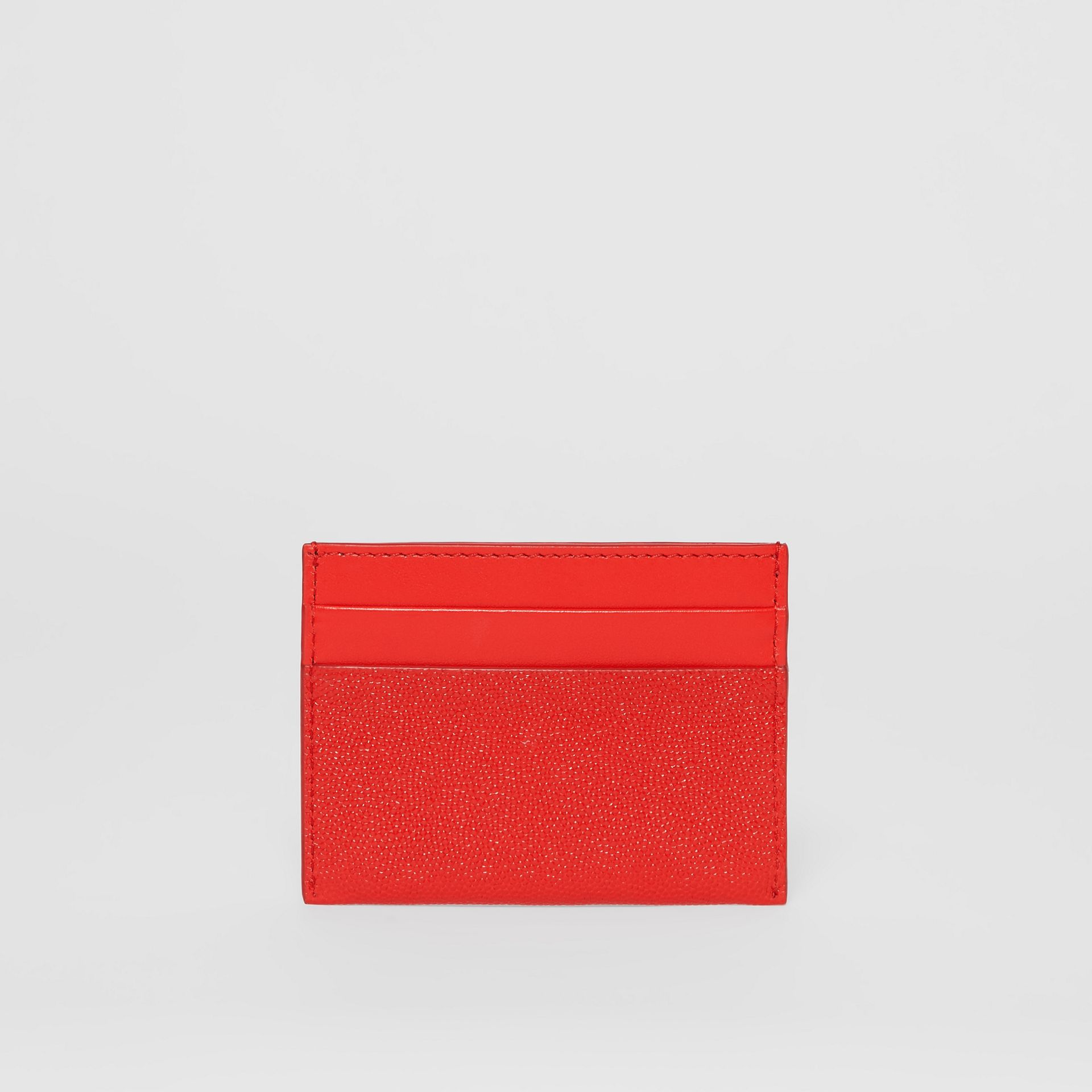 Monogram Motif Leather Card Case in Bright Red - Women | Burberry - gallery image 4
