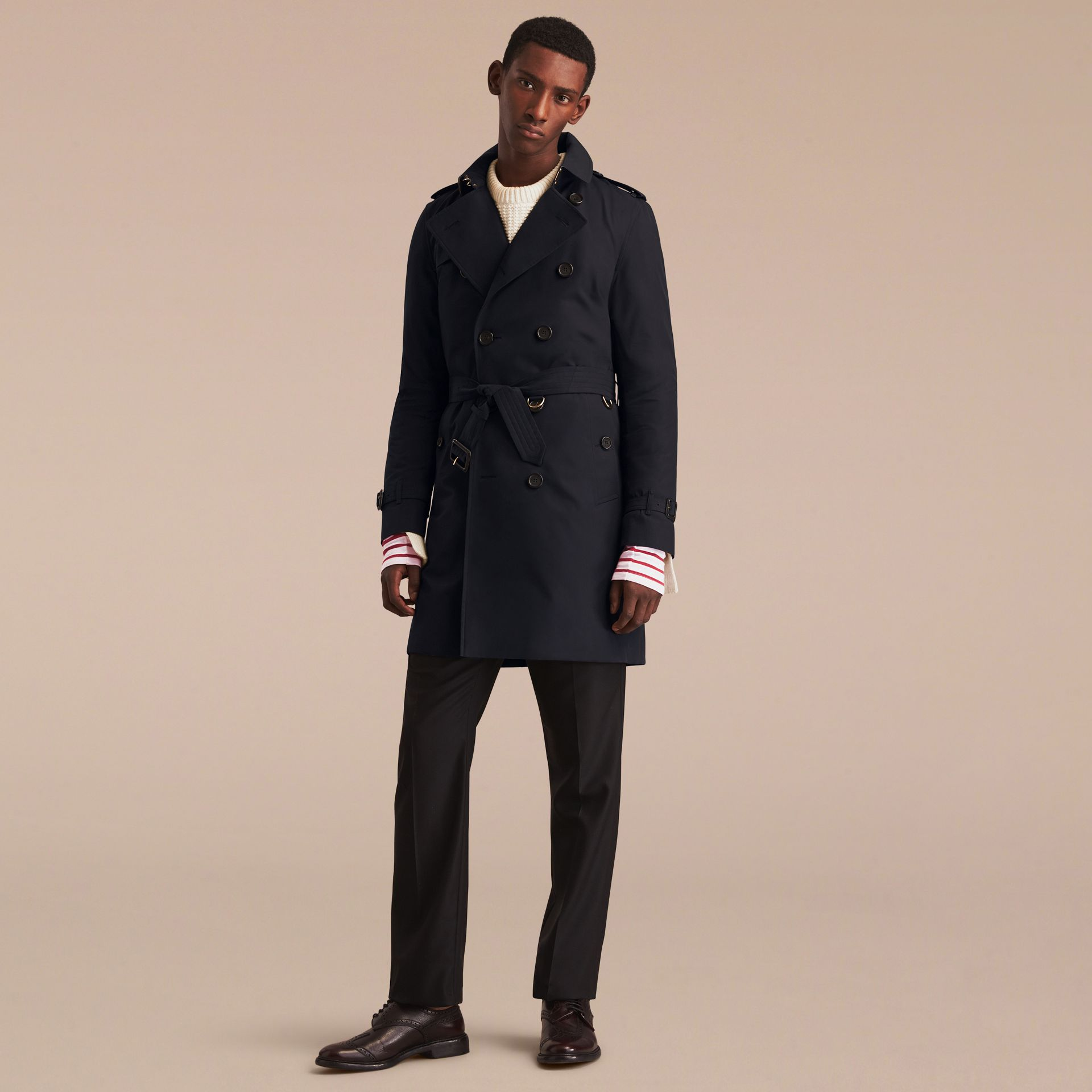 Navy The Kensington – Long Heritage Trench Coat Navy - gallery image 9