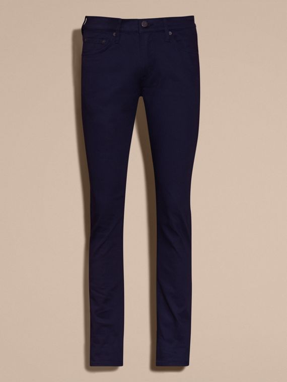 Bright navy Slim Fit Japanese Stretch Denim Jeans Bright Navy - cell image 3