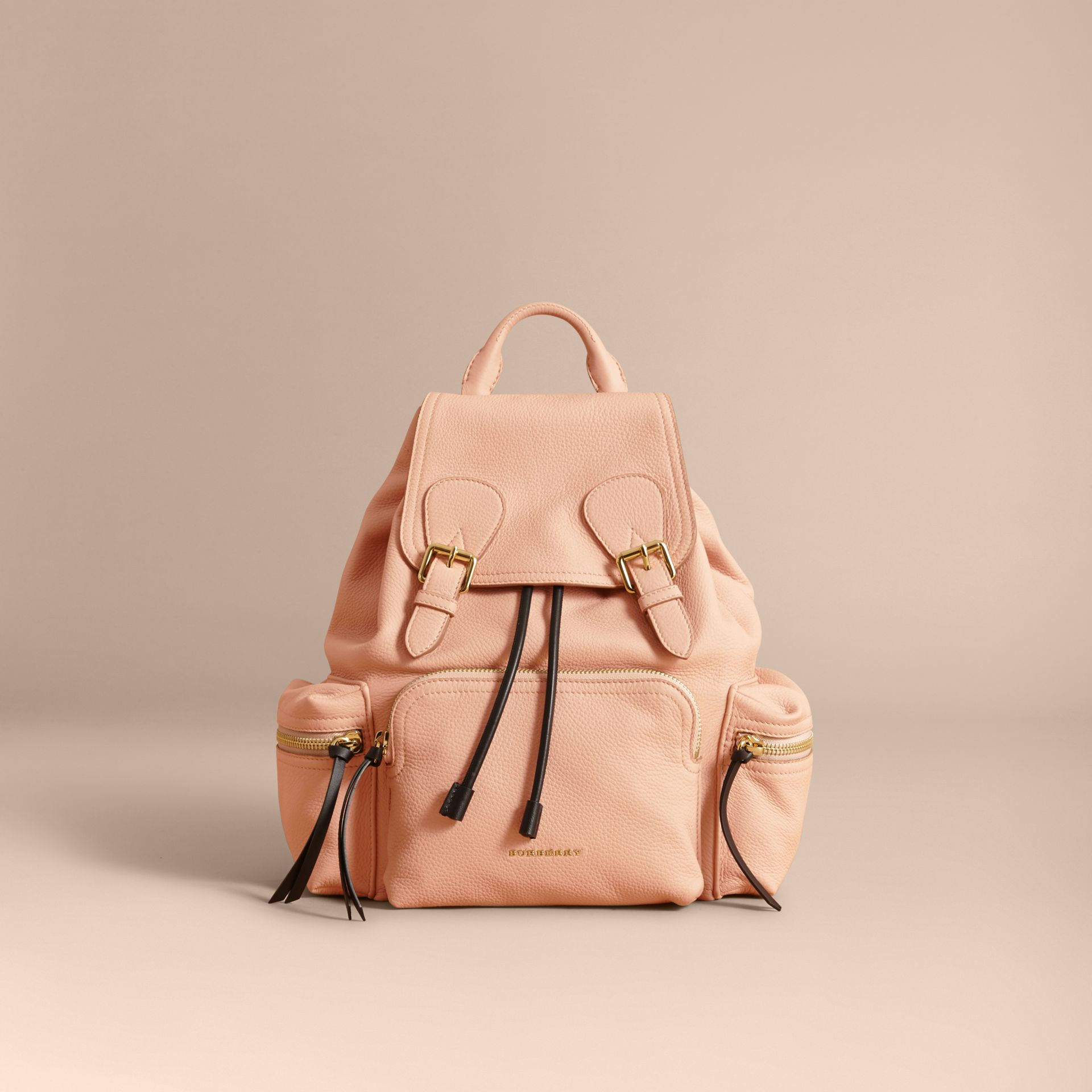 The Medium Rucksack in Deerskin with Resin Chain in Pale Apricot - gallery image 7