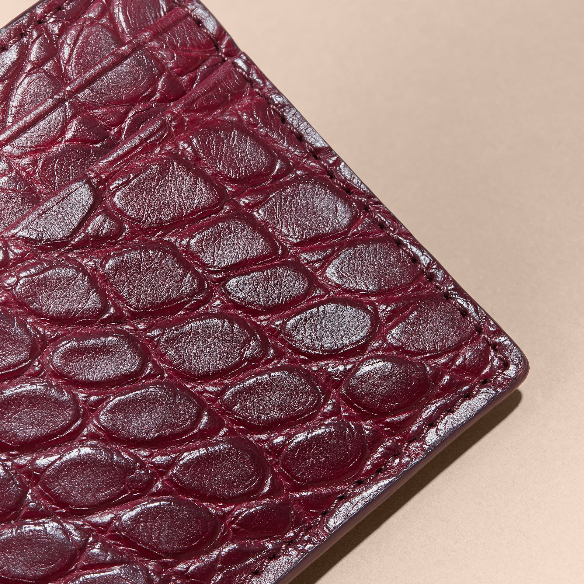 Alligator Leather Card Case - gallery image 2