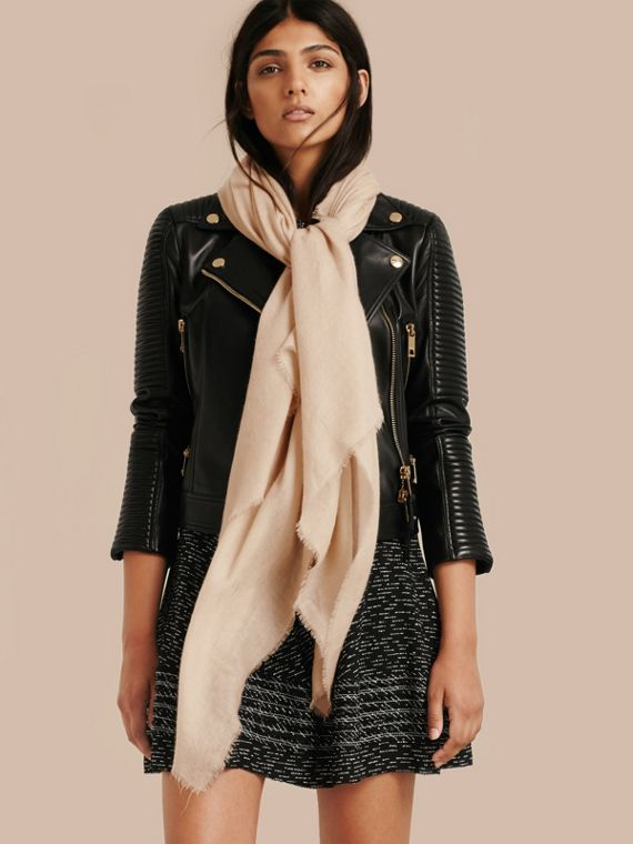 The Lightweight Cashmere Scarf in Stone | Burberry Singapore - cell image 2