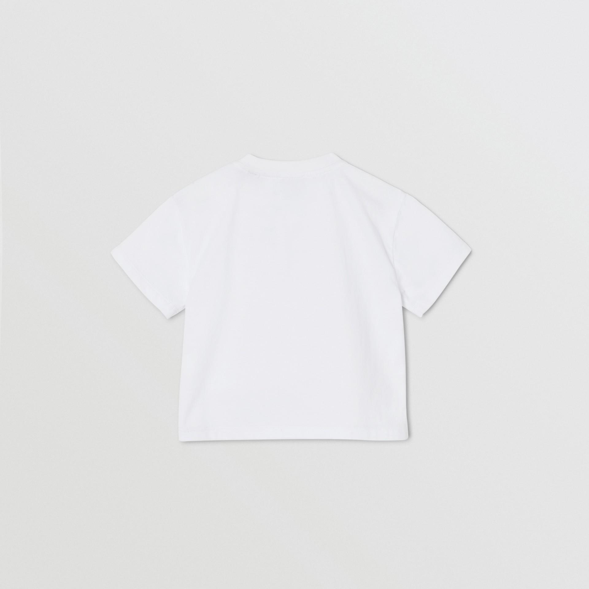 체인 프린트 코튼 티셔츠 (화이트) - 아동 | Burberry - 갤러리 이미지 4
