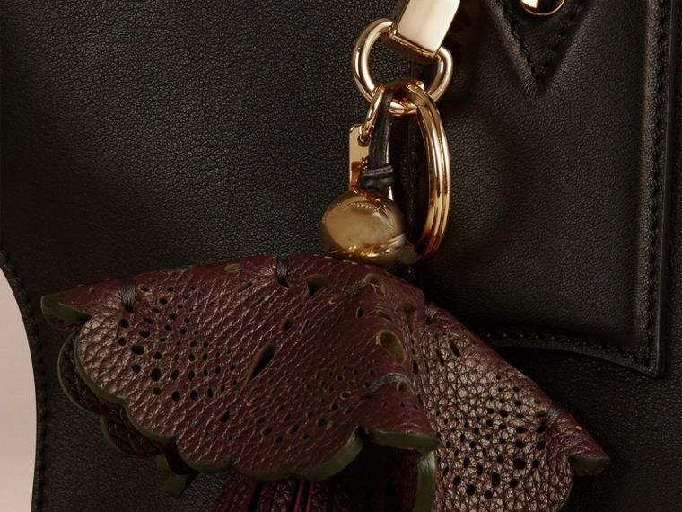 Dark amethyst Floral Leather Key Charm Dark Amethyst - cell image 1