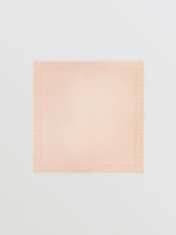 Monogram Silk Wool Jacquard Large Square Scarf in Rose Beige