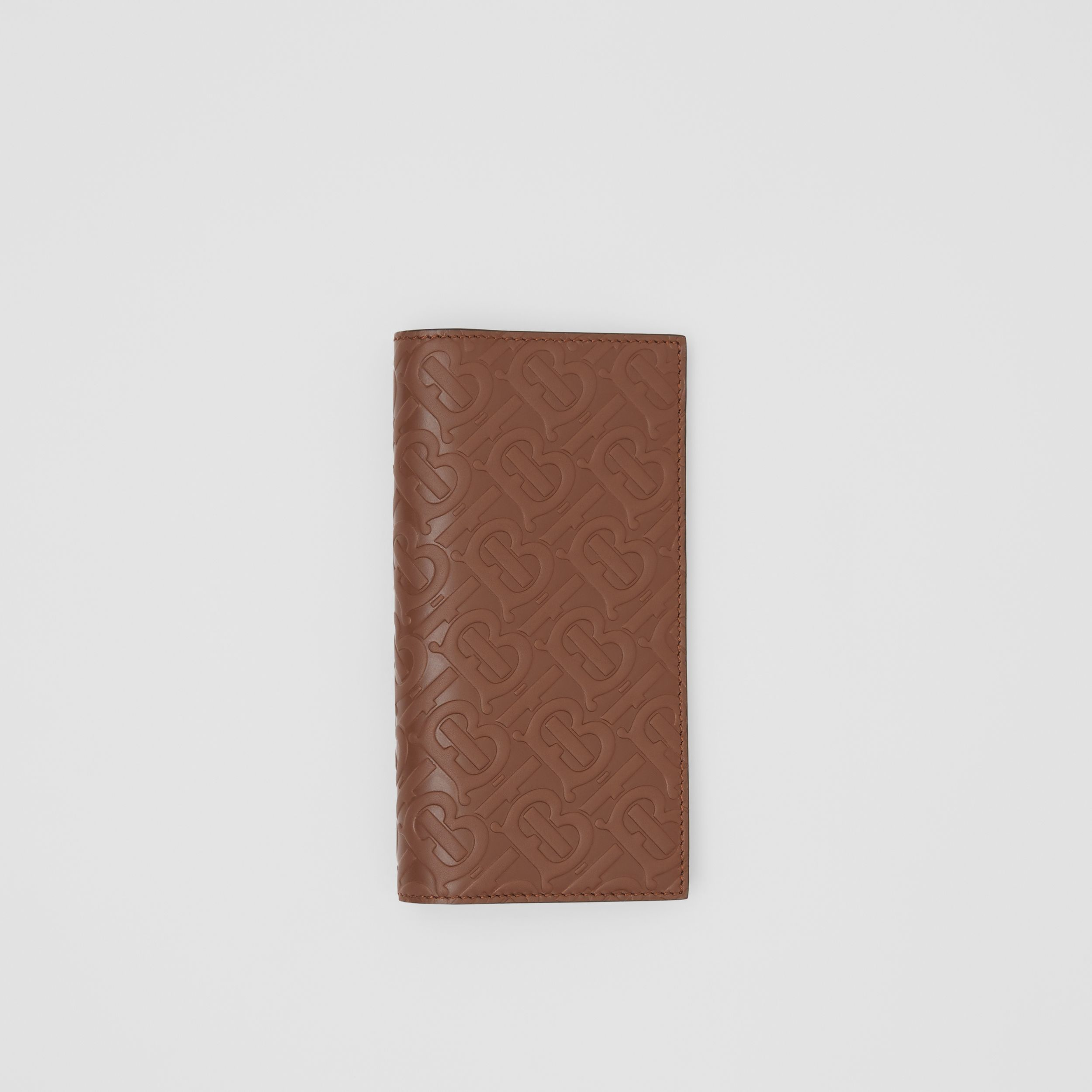 Monogram Leather Continental Wallet in Dark Tan - Men | Burberry - 3