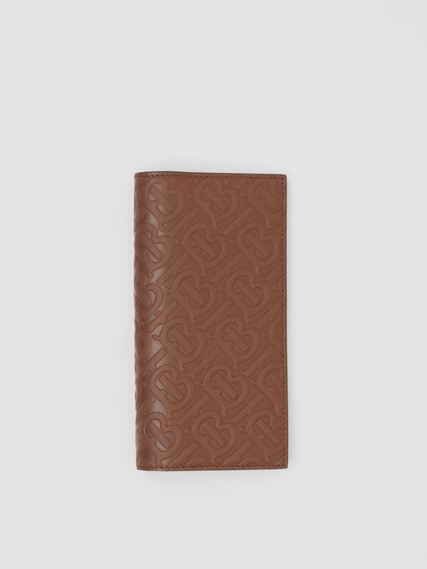 Monogram Leather Continental Wallet in Dark Tan - Men | Burberry - cell image 2