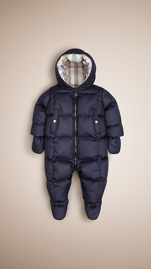 Navy Down-Filled Puffer Suit - Image 1