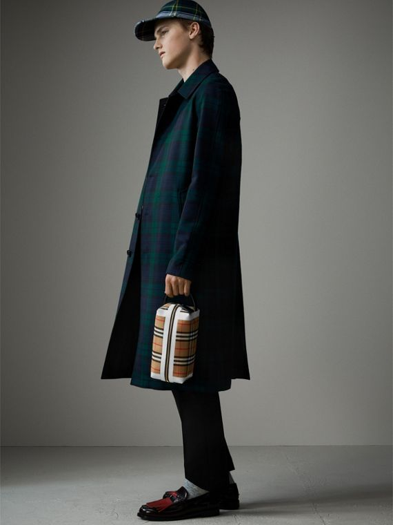 Beauty case in cotone con motivo tartan e Vintage check (Giallo Antico/giallo Ocra) | Burberry - cell image 3