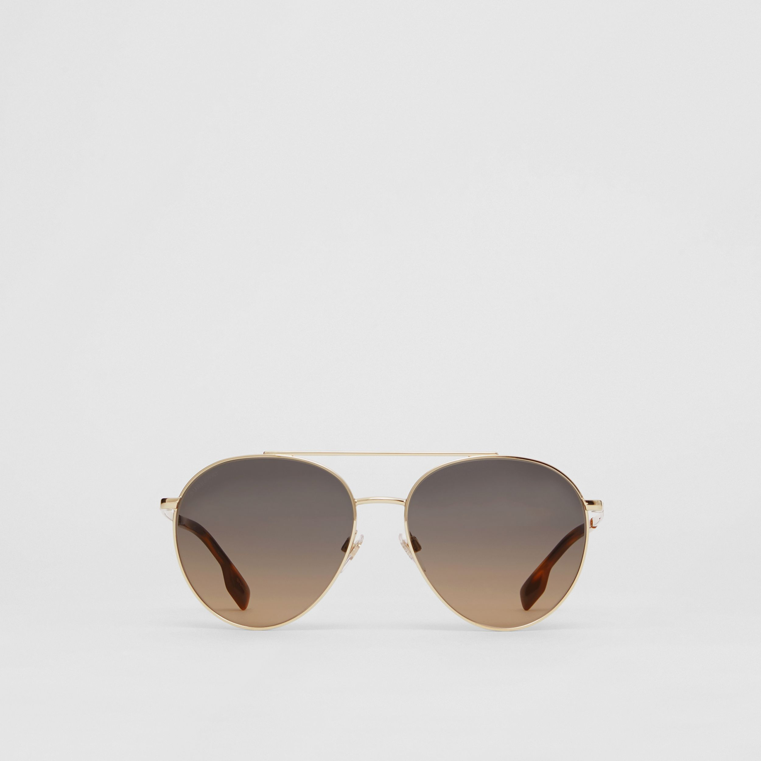 Pilot Sunglasses in Brown - Women | Burberry Singapore - 1