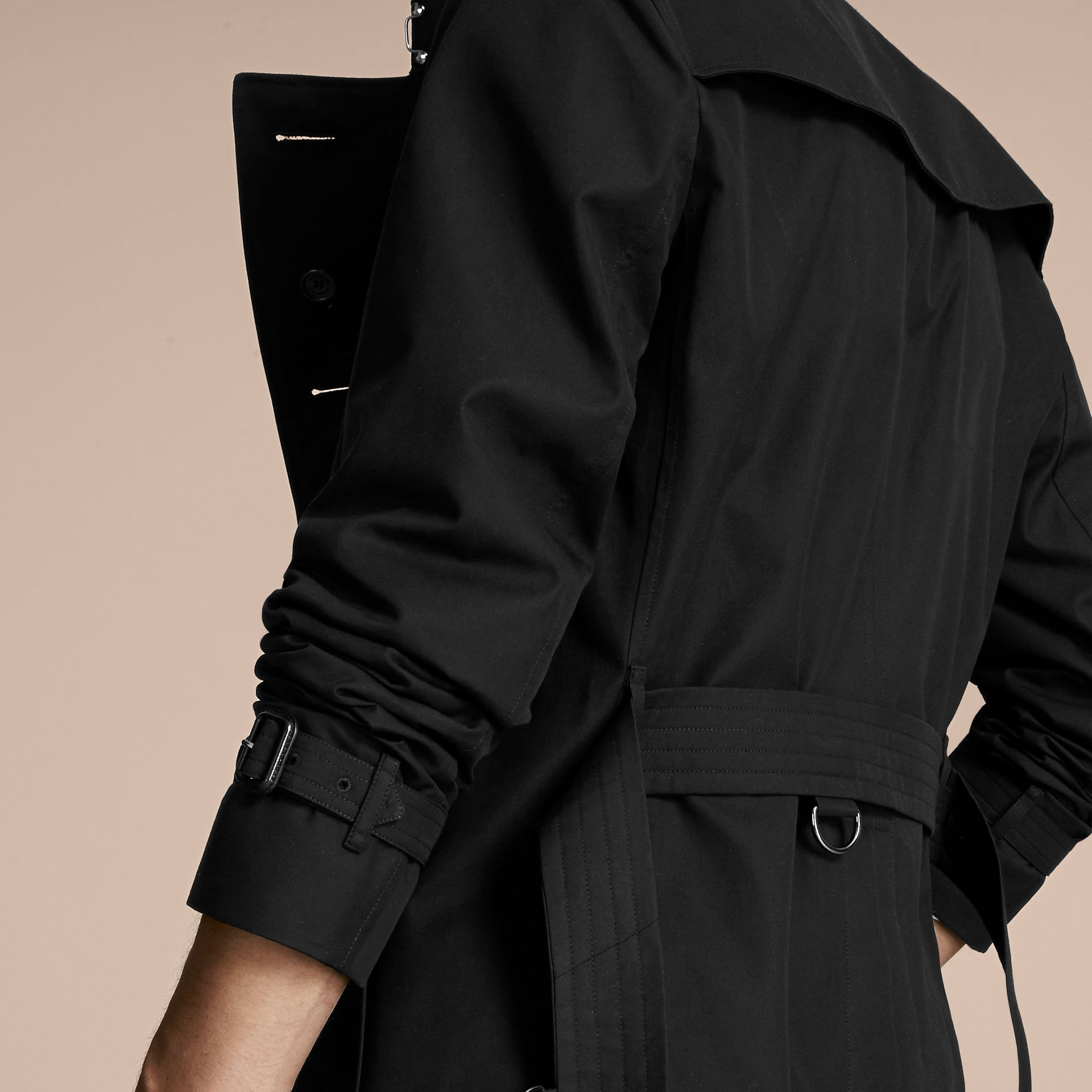 Black The Chelsea – Mid-length Heritage Trench Coat Black - gallery image 6