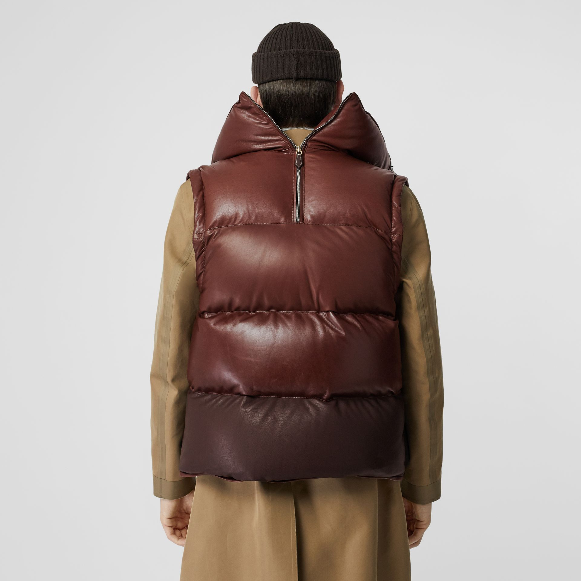 Down-filled Lambskin Puffer Gilet in Dark Mocha - Men | Burberry - gallery image 2