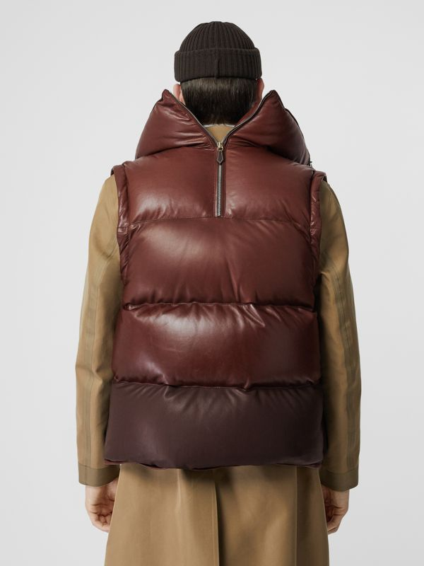 Down-filled Lambskin Puffer Gilet in Dark Mocha - Men | Burberry - cell image 2