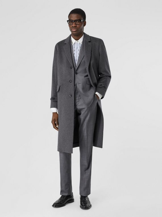 Cashmere Lab Coat in Pewter Melange