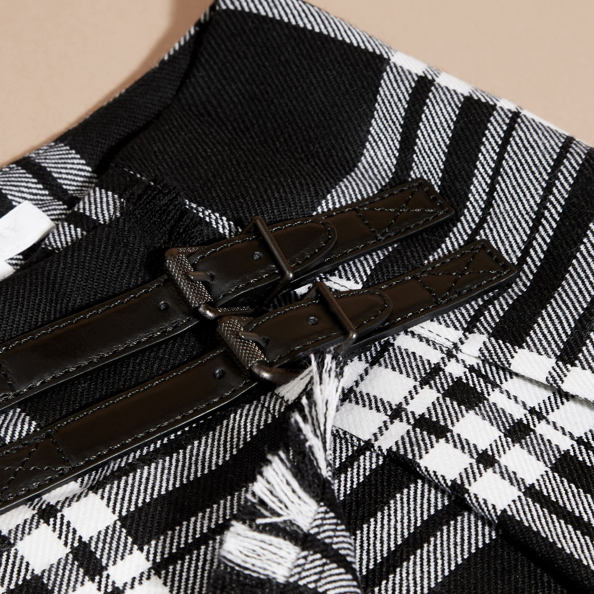 Black/white Check Wool Kilt - gallery image 2