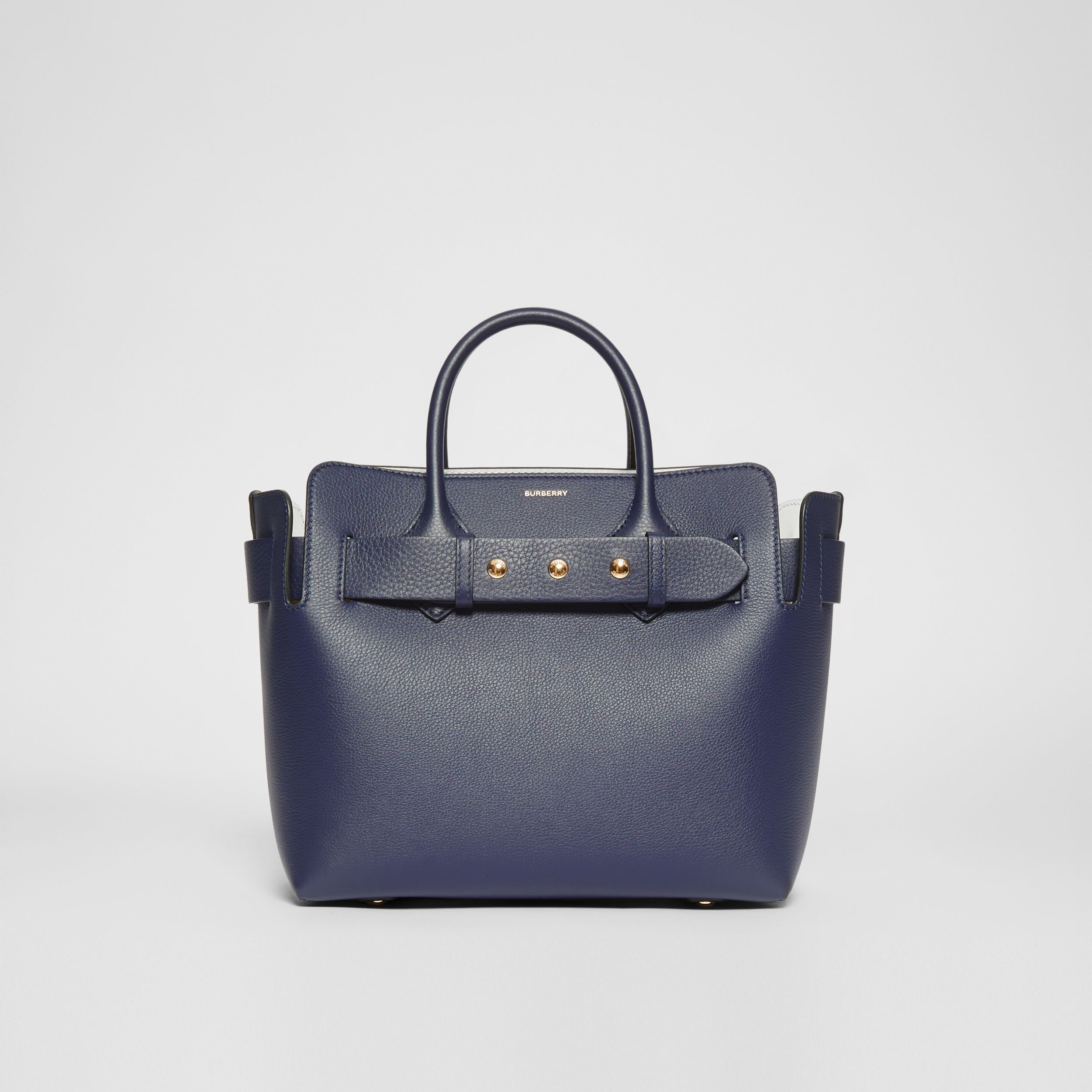 The Small Leather Triple Stud Belt Bag in Regency Blue - Women | Burberry - 1
